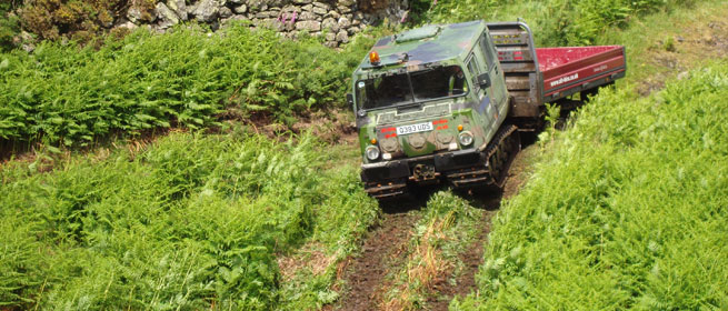 Hagglund ATV training course